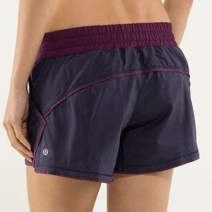 Lululemon Shake & Break Shorts Hyper Stripe Plum
